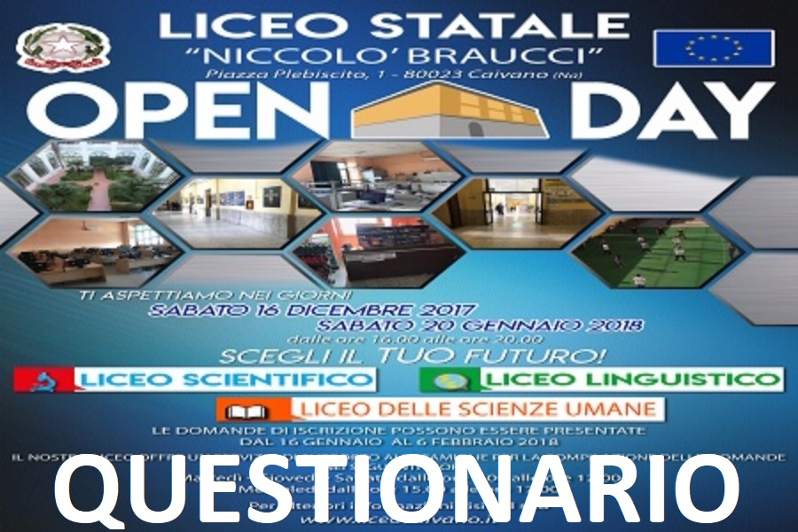 QUESTIONARIO OPEN DAY